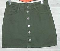 """Юбка-трапеция женская джинсовая на пуговицах, размеры 34-40 """"PLAY"""" недорого от прямого поставщика, фото 1"""