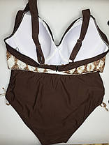 Купальник на большую грудь коричневый Sisianna 98289 на 50 52 54 56 58 размер, фото 2