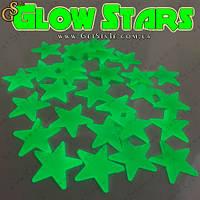 """Светящиеся звезды - """"Glow Stars"""" - 100 шт. + 12 фигурок (месяц, луна), фото 1"""