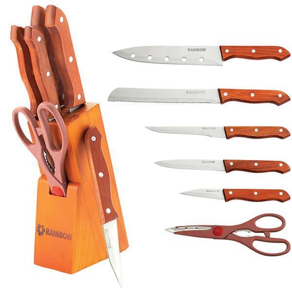 Набор кухонных ножей Rainbow 7 предметов