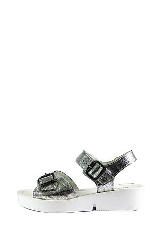 Босоножки женские MIDA 23827-115 серебро кожа (36), фото 2
