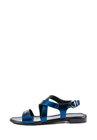 Босоножки женские MIDA 23785-540 темно-синяя кожа (36), фото 2