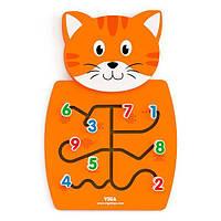 Настенная игрушка Viga Toys Кот с цифрами (50676)