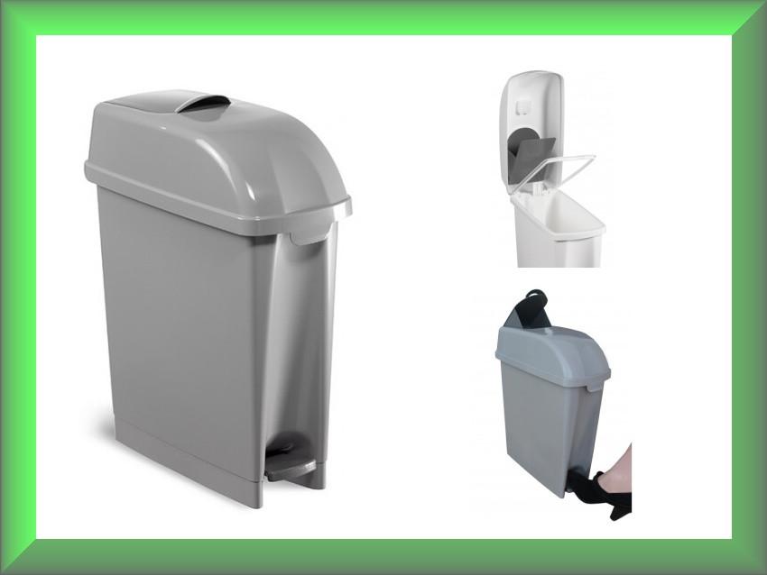 Урна для мусора с педалью, урна пластмассовая, корзина пластмассовая ELLE 17л 00005481 TTS