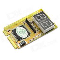 POST карта тестер Спартак Mini PCI PCI-E LPC POST Yellow 000023, КОД: 949672