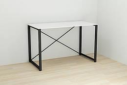 Письменный стол Ferrum-decor Конект 75x120x60 см Белый с черным XK00163, КОД: 1778834