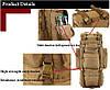 Армейский рюкзак + Подарок / 65л Oxford 600D - штурмовой (70х40х25 см), фото 9