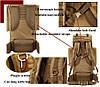Армейский рюкзак + Подарок / 65л Oxford 600D - штурмовой (70х40х25 см), фото 10