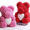 Мишка из роз 40 см в подарочной коробке / Мишка из цветов / Оригинальный подарок девушке, фото 2