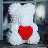 Мишка из роз 40 см в подарочной коробке / Мишка из цветов / Оригинальный подарок девушке, фото 5