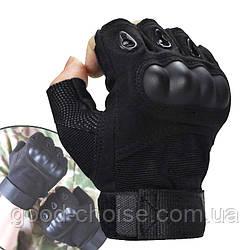 Тактические перчатки (M,L,XL) с открытыми пальцами Oakley армейские / Беспалые велоперчатки + Подарок!
