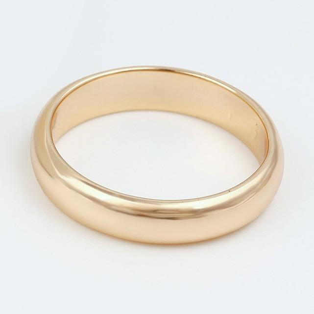 XUPING Кольцо обручальное Позолота 18к 4мм Размер 15.5,16,17.5,20.5