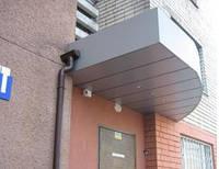 Изготовление фасадных козырьков из композитных панелей Хмельницкий