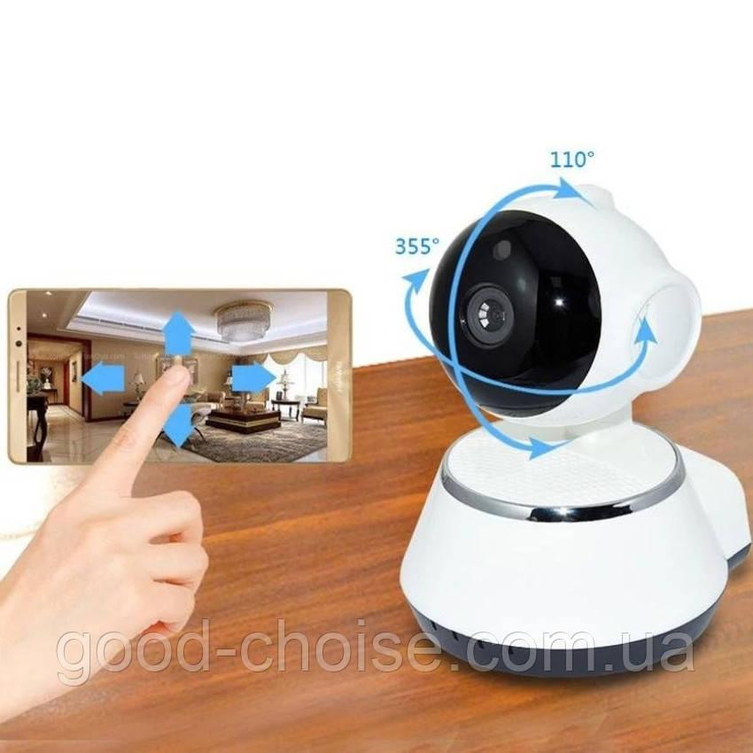 Поворотная Wi-Fi IP камера видеонаблюдения Smart NET Q6