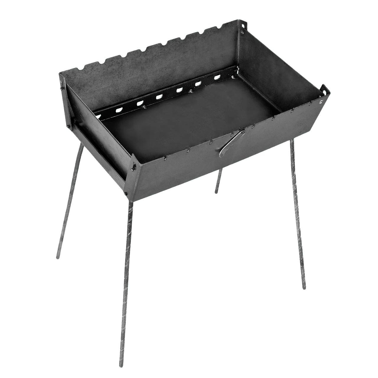 Мангал - чемодан 3 мм на 8 шампуров 450х300х140мм Раскладной Походный