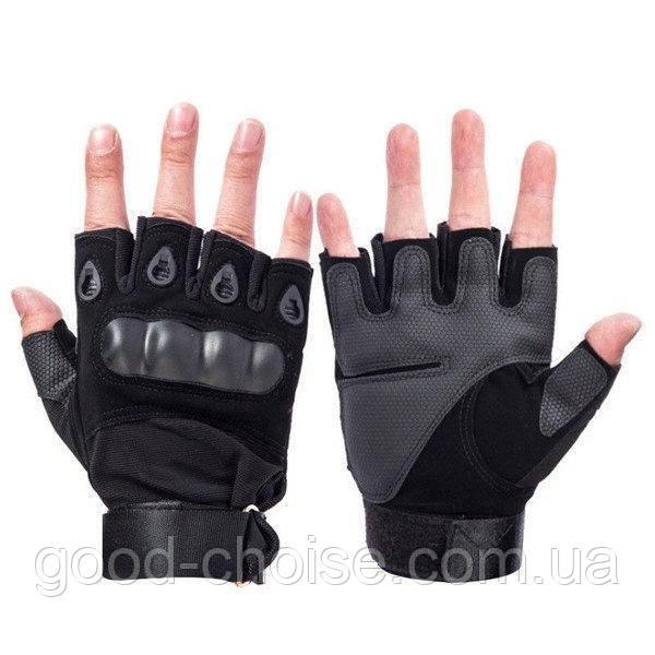 Тактические перчатки с открытыми пальцами Oakley армейские / Беспалые велоперчатки / Мотоперчатки