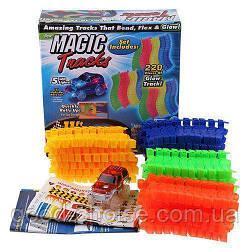 Конструктор Magic Tracks - 220 деталей / Гоночная трасса / Светящаяся дорога