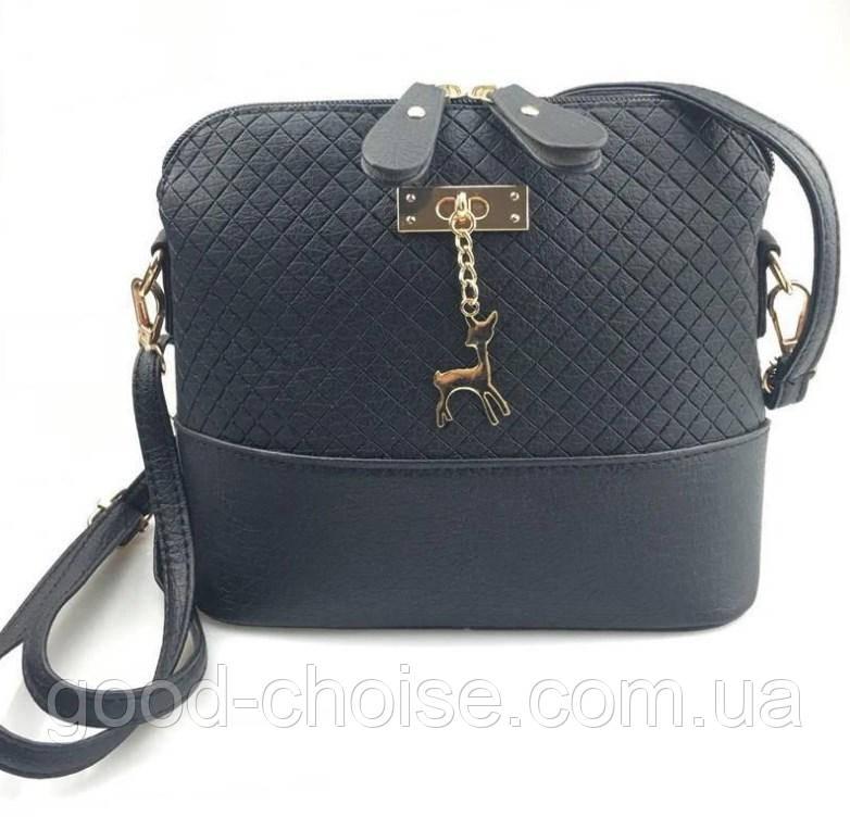 Женская сумка клатч Бэмби / Сумка Бемби серая ( 23 x 20 x 10 см)