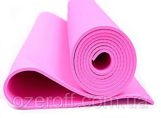 Мат для йоги EVA 173 х 61 см (0380) Малиновый