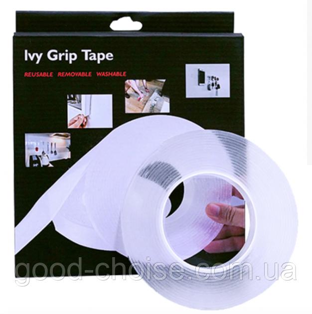 Многоразовая крепежная лента 3 м Ivy Grip Tape / Сверхсильная клейкая гелиевая лента