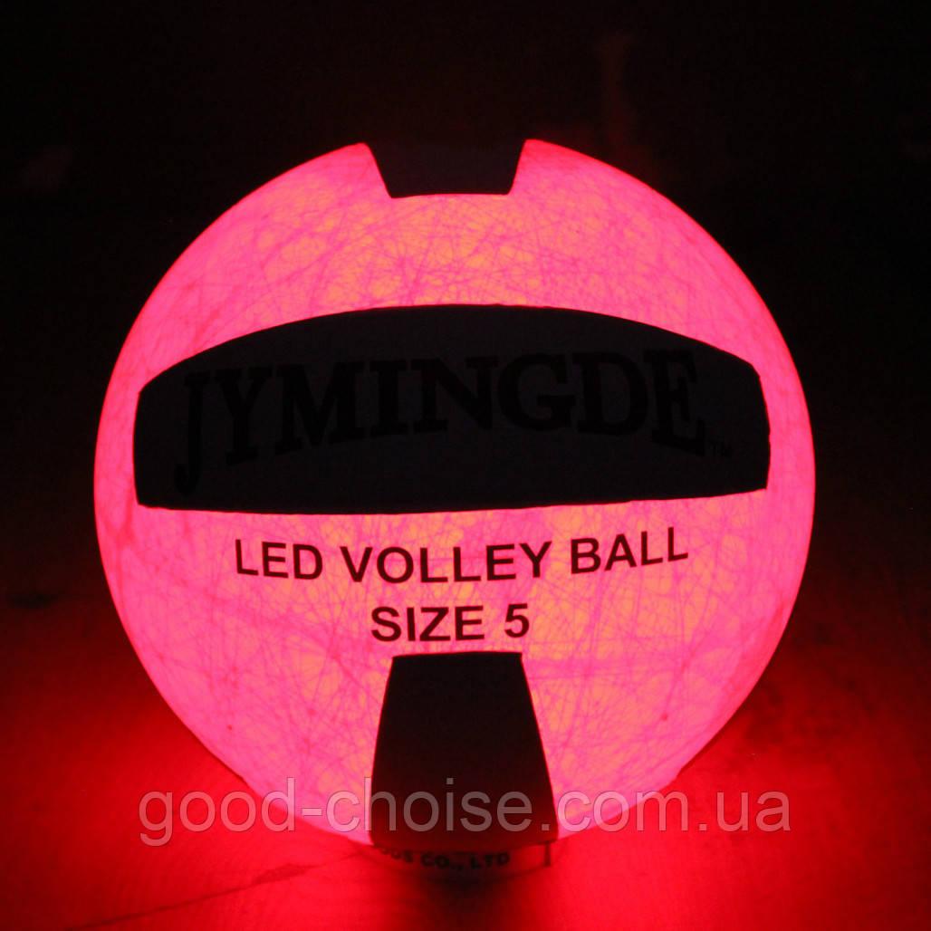 Светящийся в темноте мяч с LED подсветкой / Волейбольный лед мяч / Мячи