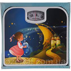 Весы напольные механические A-PLUS (1651) Девочка и месяц