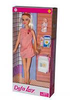 """Беременная кукла """"Defa Lucy"""" розовое платье 8357"""
