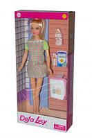 """Беременная кукла """"Defa Lucy"""" серое платье 8357"""
