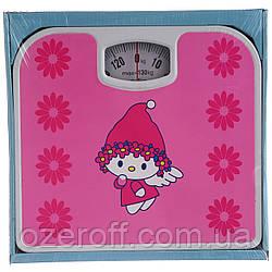Весы напольные механические A-PLUS (1651) Девочка на розовом фоне