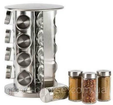 Набор для специй Spice carousel, 16 емкостей (баночек) / Подставка для специй