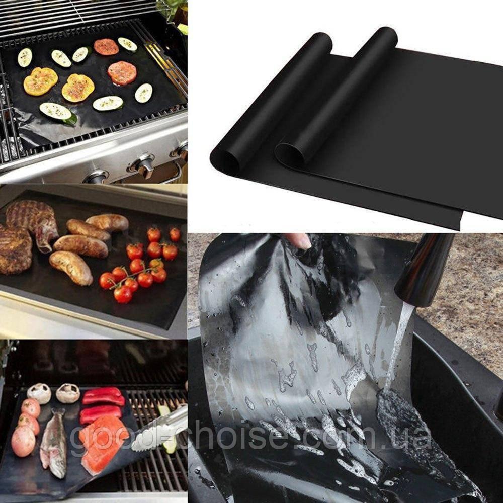 Антипригарный коврик гриль BBQ grill sheet 33*40 см для гриля, барбекю, решетки