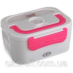 Автомобильный ланч бокс с подогревом Lanch Box (3066YY/ 12v) Розовый