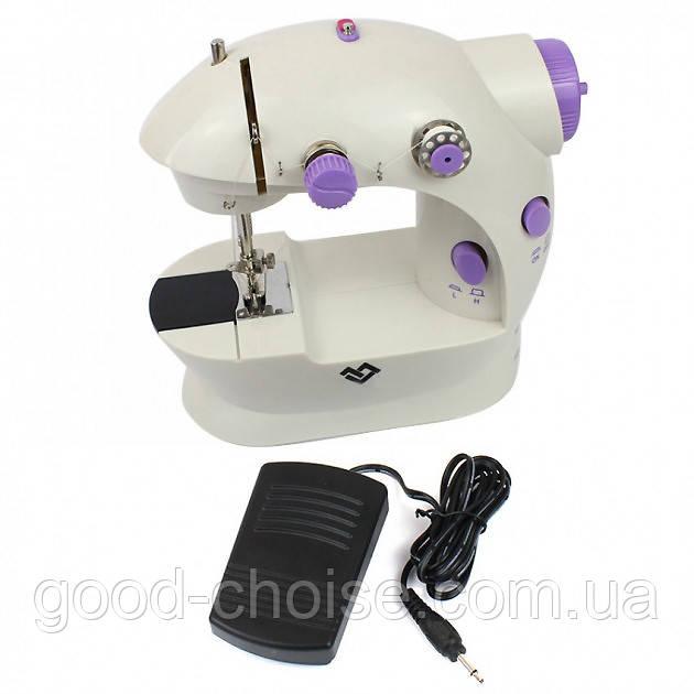 Швейная машинка портативная Mini Sewing Machine FHSM 202 с адаптером