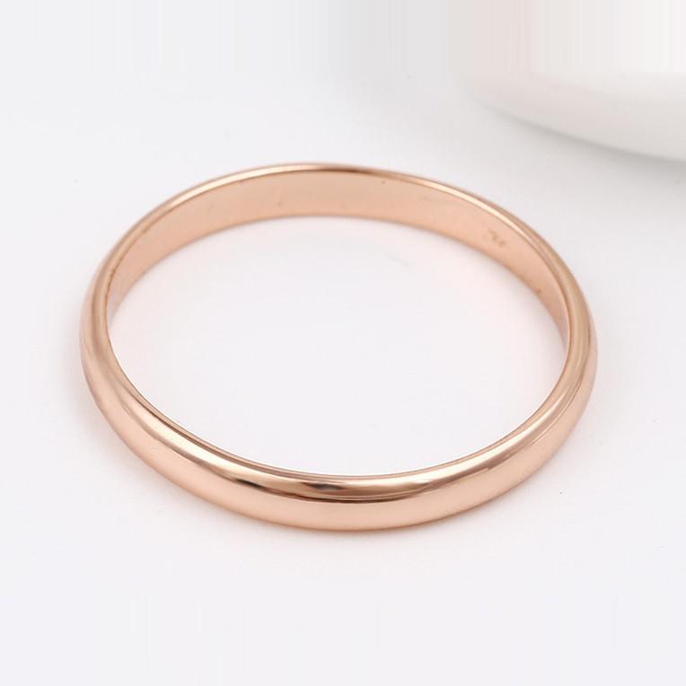 XUPING Кольцо обручальное Позолота РО 3мм Размер 15.5,16.5,17,17.5,18, 18.5,19.5,20.5,21.5