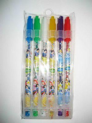 """Ручки гелевые, набор в PVC 6 цветов """"Принцессы"""" блестящие Josef Otten"""