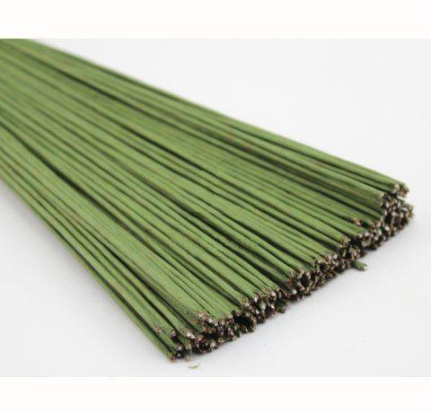 Проволока флористическая №18 (d-1 мм), зеленая, 10 шт.