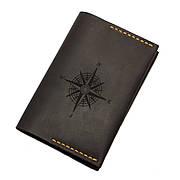 Обложка для паспорта из натуральной кожи Compass Коричневая (as150201-2)