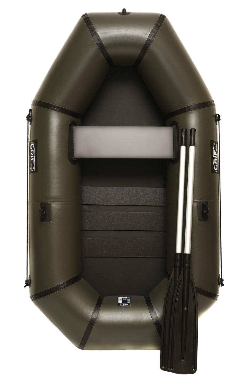 Надувний гумовий човен Grif boat GL-210S для риболовлі та полювання на воді (220603)