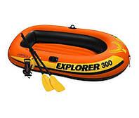 Лодка надувная Intex 58332 EXPLORER 300 Оранжевый, КОД: 1686979