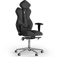 Кресло KULIK SYSTEM ROYAL Ткань с подголовником без строчки Черный 5-901-BS-MC-0507, КОД: 1692625