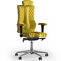 Кресло KULIK SYSTEM ELEGANCE Экокожа с подголовником со строчкой Желтый 10-901-WS-MC-0211, КОД: 1689429