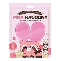 Гидрогелевые патчи для глаз и скул Secret Key Pink Racoony Hydro-Gel Eye  Cheek Patch 6 штук 8809, КОД: 1788713