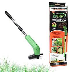 Ручная беспроводная аккумуляторная газонокосилка для сада несамоходная, Триммер для травы Zip Trim
