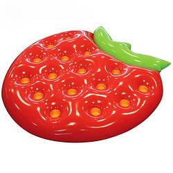 Оригинальный пляжный надувной матрас ягода клубника, большой детский плот для плавания, круглый