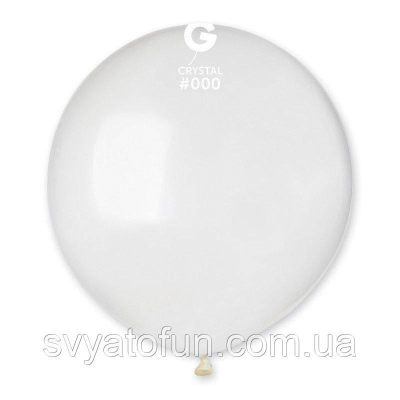 """Латексный воздушный шарик 19"""" пастель 00 прозрачный 1шт Gemar"""
