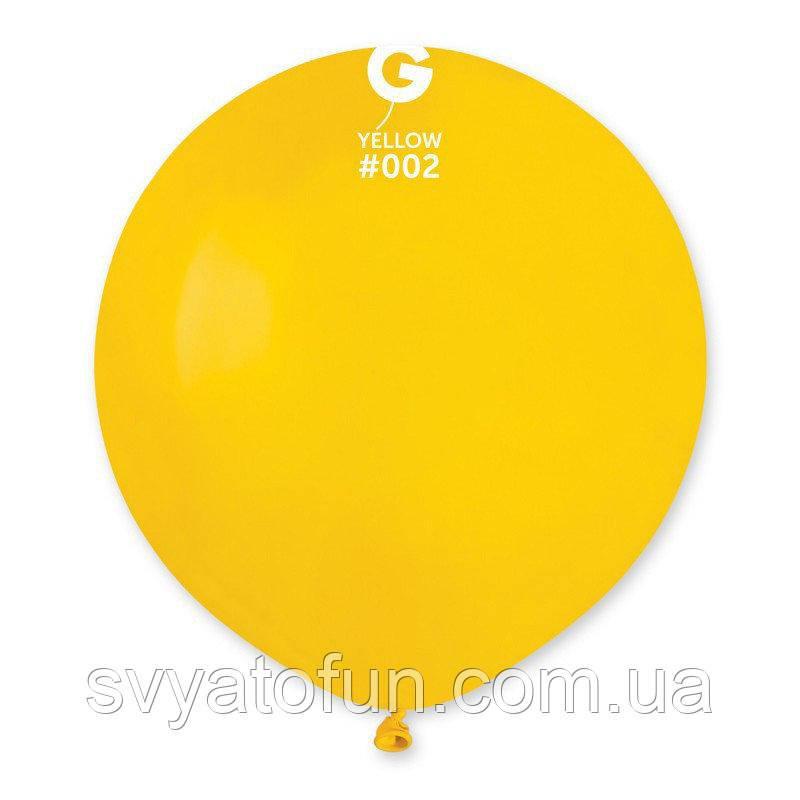 """Латексный воздушный шарик 19"""" пастель 02 желтый 1шт Gemar"""