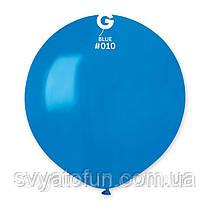"""Латексный воздушный шарик 19"""" пастель 10 синий 1шт Gemar"""