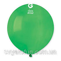 """Латексный воздушный шарик 19"""" пастель 12 зеленый 1шт Gemar"""