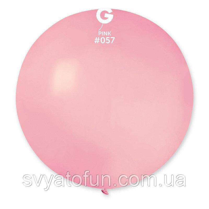 """Латексный воздушный шарик 31"""" пастель 57 светло-розовый 1шт Gemar"""