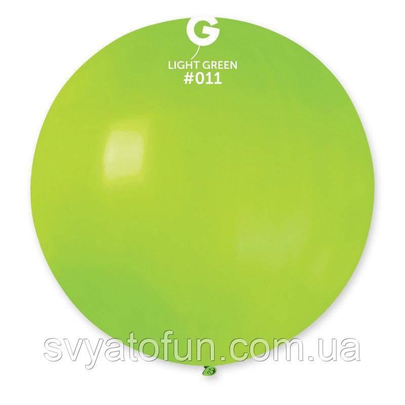 """Латексный воздушный шарик 31"""" пастель 11 салатовый 1шт Gemar"""